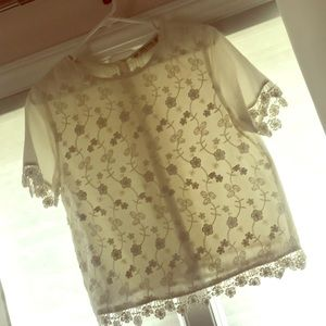 Cream Zara Blouse, EUC